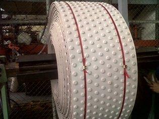 Bandas industriales técnicas en Caucho Botones