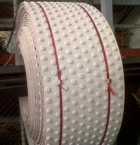 Bandas industriales tecnicas en Caucho Botones