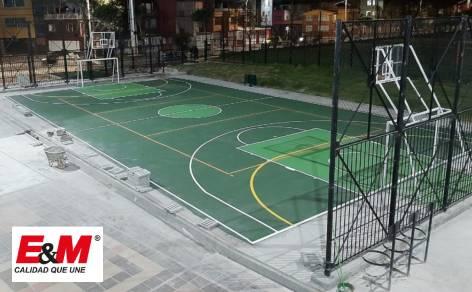 Canchas de colegios distritales de Bogotá con recubrimiento Truflex